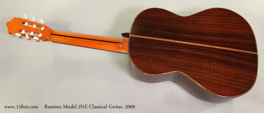 Ramírez Model 2NE Classical Guitar, 2009 Full Rear View