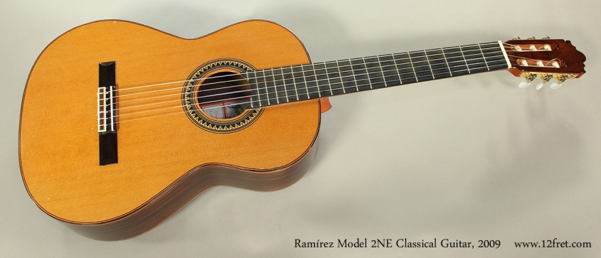 Ramírez Model 2NE Classical Guitar, 2009 Full Front View