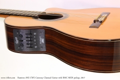 Ramirez 2NE CWE Cutaway Classical Guitar with RMC MIDI pickup, 2017  Controls and Bridge View