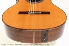 Ramirez 2NE CWE Cutaway Classical Guitar with RMC MIDI pickup, 2017  Bridge and Jack View