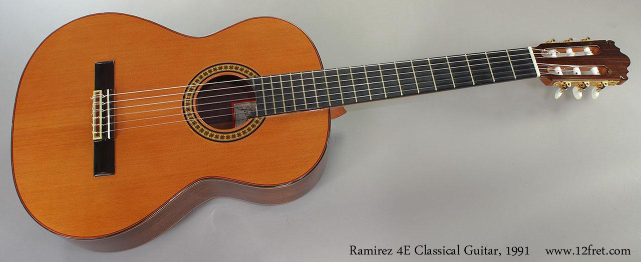 Ramirez 4E Classical Guitar, 1991 Full Front View