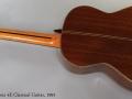 Ramirez 4E Classical Guitar, 1991 Full Rear View