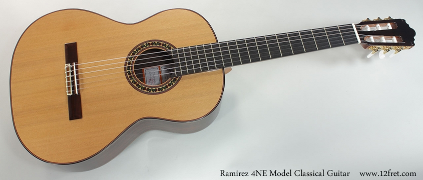 Ramirez 4NE Model Classical Guitar Full Front VIew