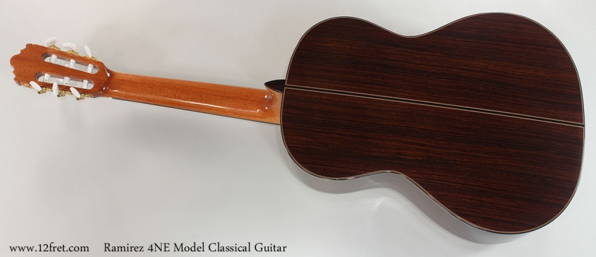 Ramirez 4NE Model Classical Guitar Full Rear View