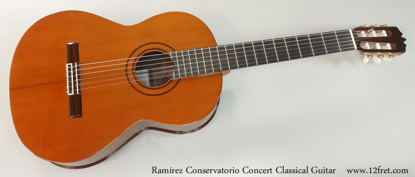 Ramirez Conservatorio Concert Classical Guitar Full Front View