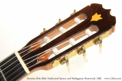 Ramirez Elite 650a Tradicional Spruce and Madagascar Rosewood, 1995 Head Front View