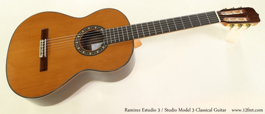 Ramirez Estudio 3 / Studio 3 Classical Guitar Full Front View