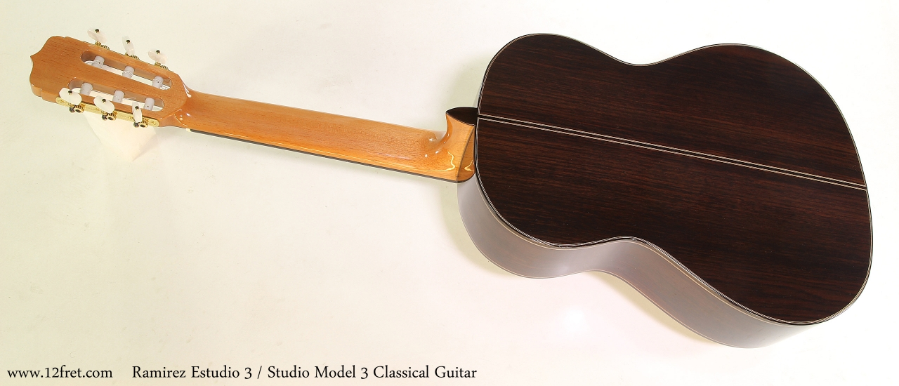 Ramirez Estudio 3 / Studio 3 Classical Guitar Full Rear View