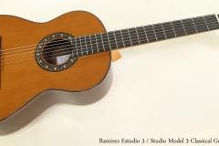 Ramirez Estudio 3 / Studio 3 Classical Guitar Full Front View