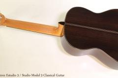 Ramirez Estudio 3 / Studio 3 Classical Guitar Full Rear View