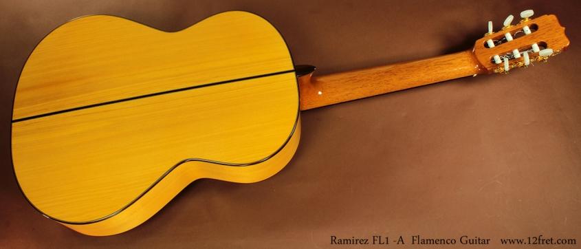 Ramirez FL1 Flamenco Guitar full rear view