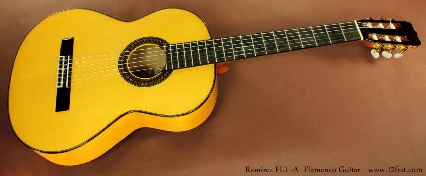 Ramirez FL1 Flamenco Guitar full front view