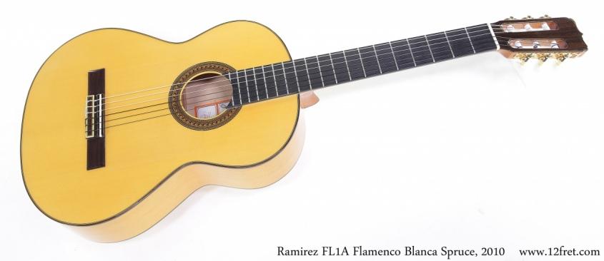Ramirez FL1A Flamenco Blanca Spruce, 2010 Full Front View