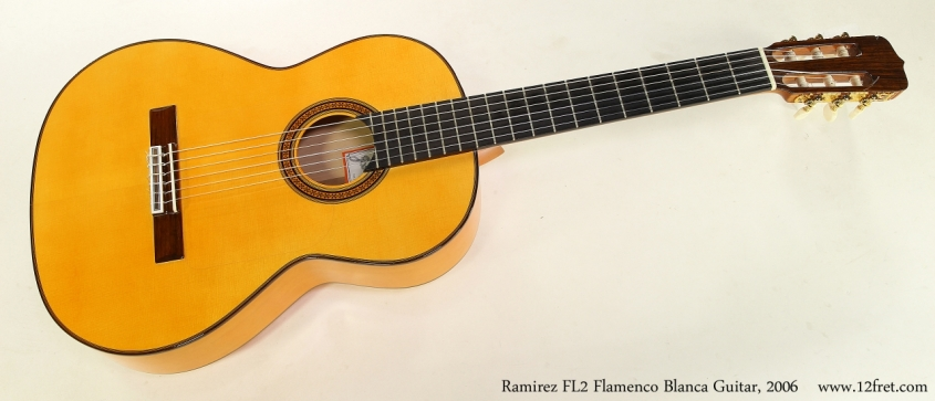 Ramirez FL2 Flamenco Blanca Guitar, 2006   Full Front View
