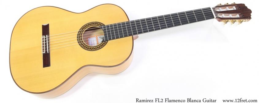 Ramirez FL2 Flamenco Blanca Guitar Full Front View