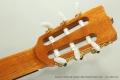 Ramirez Guitarra del Tiempo Cedar Classical Guitar, 2017 Head Rear View