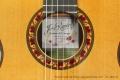 Ramirez Guitarra del Tiempo Cedar Classical Guitar, 2017 Label and Rosette View