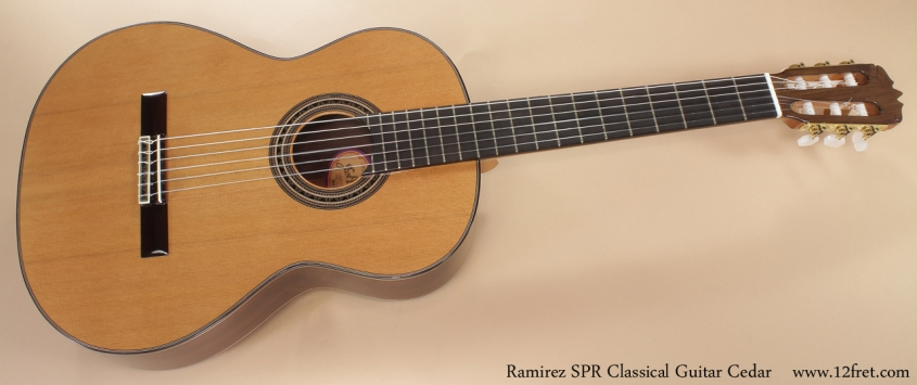 Ramirez SPR Classical Guitar Cedar full front view