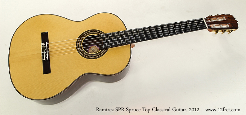 Ramirez SPR Spruce Top Classical Guitar, 2012 Full Front View