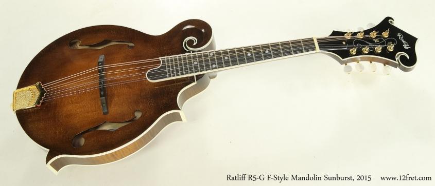 Ratliff R5-G F-Style Mandolin Sunburst, 2015 Full Front View