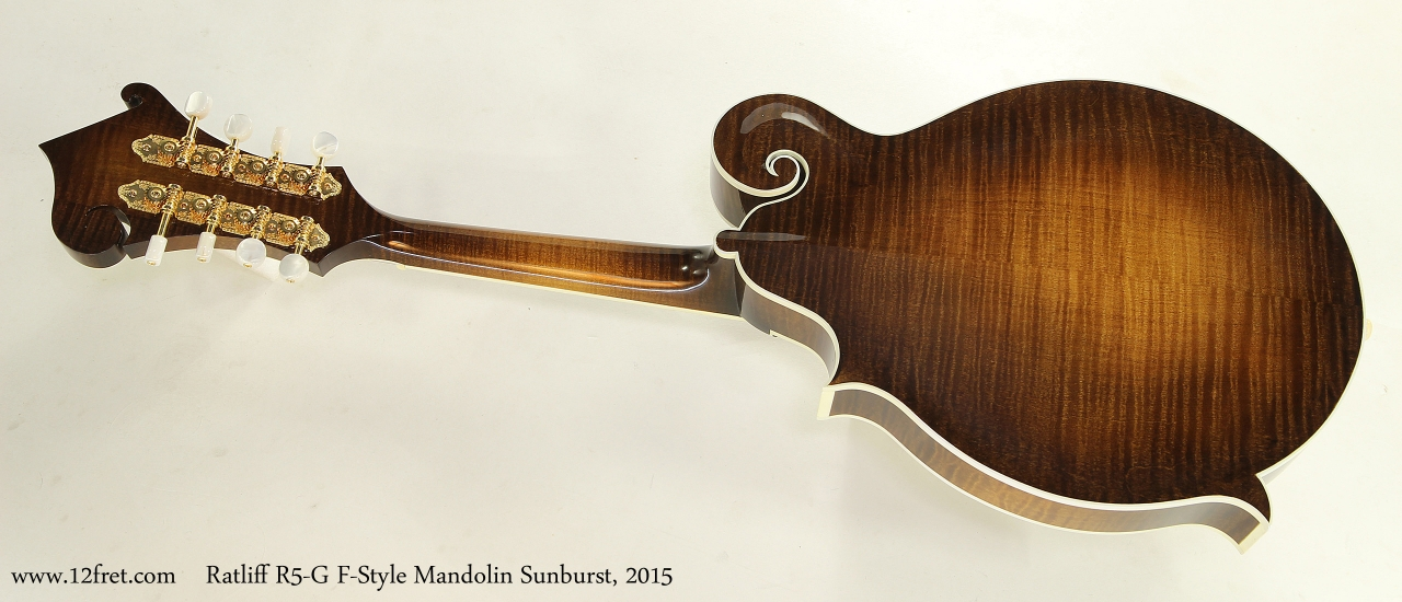 Ratliff R5-G F-Style Mandolin Sunburst, 2015 Full Rear View