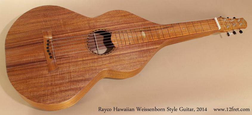 Rayco Hawaiian Weissenborn Style Guitar 2014 full front view