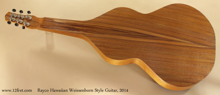 Rayco Hawaiian Weissenborn Style Guitar 2014 full rear view
