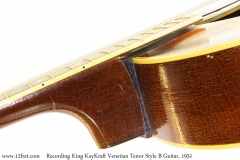 Recording King KayKraft Venetian Tenor Style B Guitar, 1931 Neck Joint View