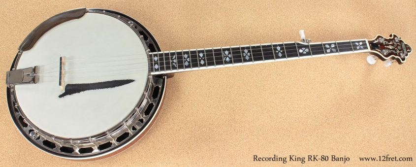 Recording King RK-80 Banjo full front view