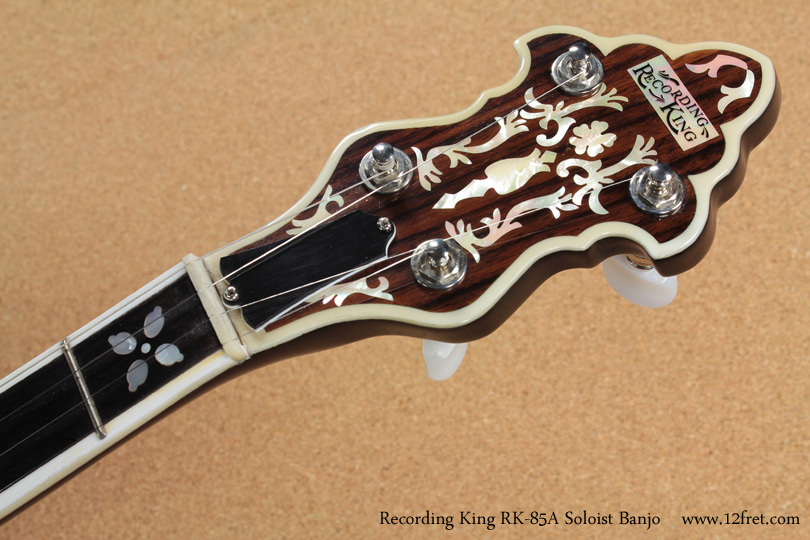 Recording King RK-85A Soloist Banjo head front