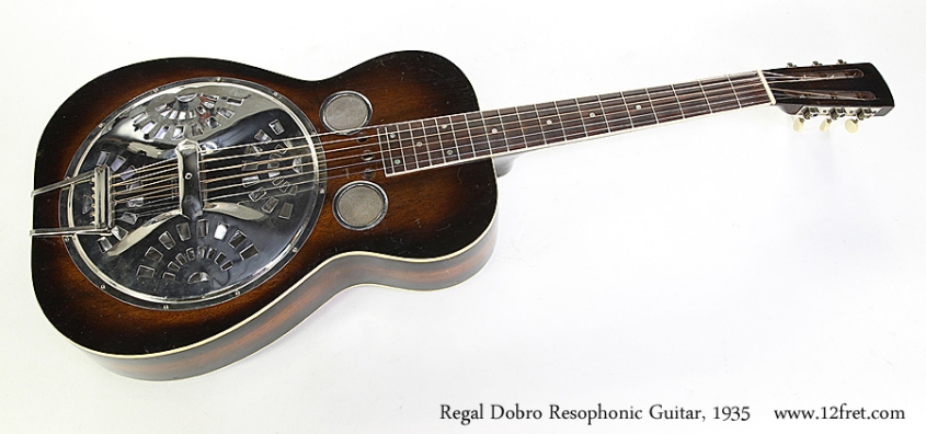 Regal Dobro Resophonic Guitar, 1935 Full Front View
