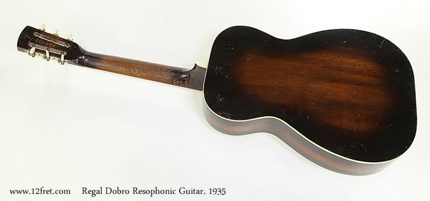 Regal Dobro Resophonic Guitar, 1935 Full Rear View