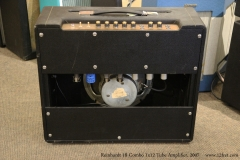 Reinhardt 18 Combo 1x12 Tube Amplifier, 2007 Full Rear View