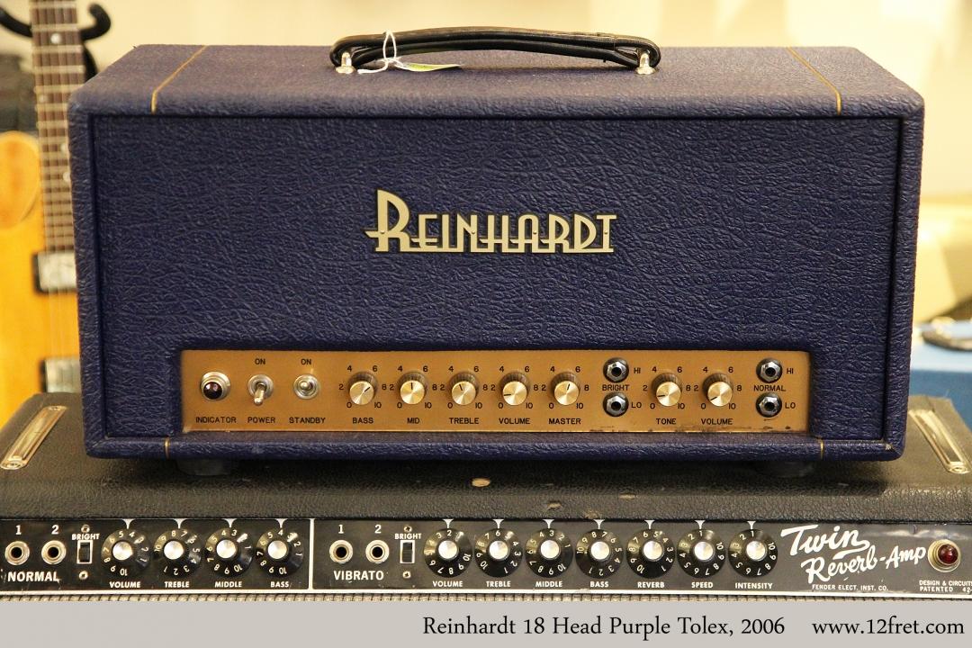 Reinhardt 18 Head Purple Tolex, 2006 Full Front View