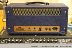 Reinhardt 18 Head Purple Tolex, 2006 Full Rear View