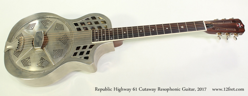Republic Highway 61 Cutaway Resophonic Guitar, 2017 Full Front View