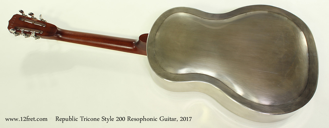 Republic Tricone Style 200 Resophonic Guitar, 2017 Full Rear View