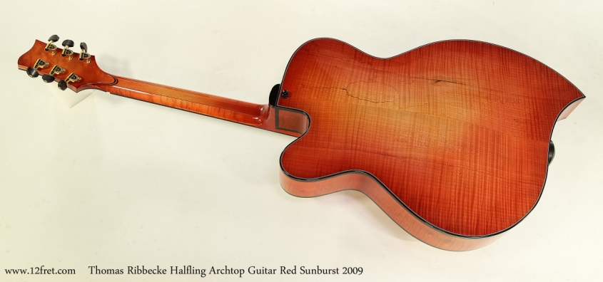 Thomas Ribbecke Halfling Archtop Guitar Red Sunburst 2009   Full Rear View