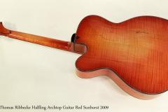 Thomas Ribbecke Halfling Archtop Guitar Red Sunburst 2009   Full Rear View