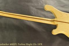 Rickenbacker 4001FL Fretless Maple Glo 1978 Full Rear View