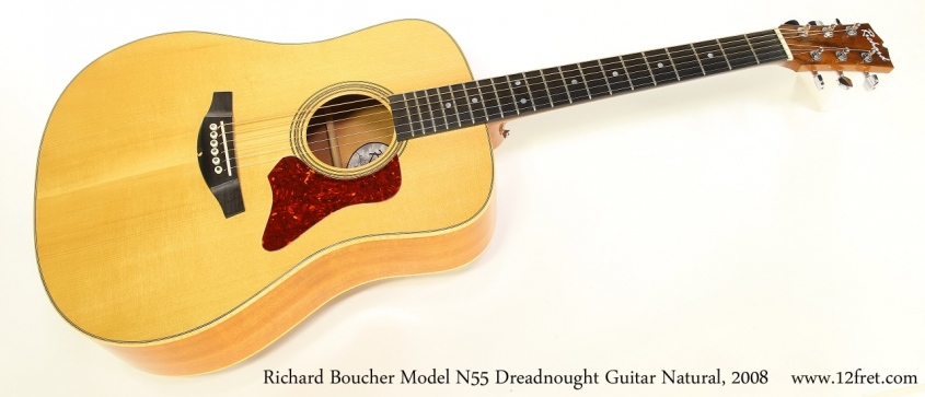 Richard Boucher Model N55 Dreadnought Guitar Natural, 2008 Full Front View
