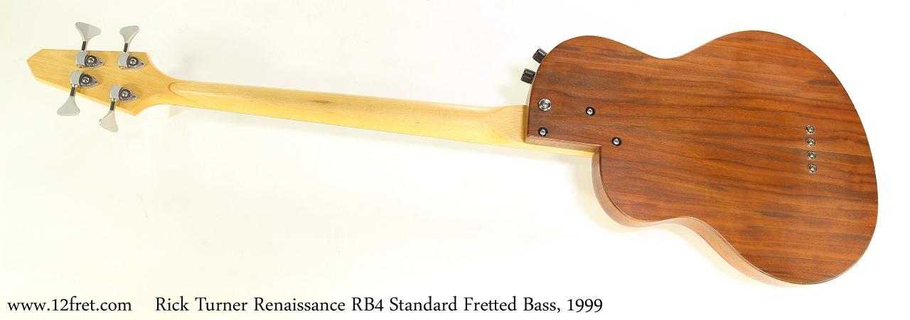 Rick Turner Renaissance RB4 Standard Fretted Bass, 1999  Full Rear View