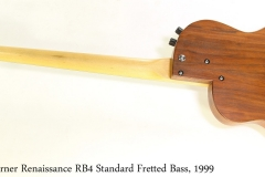 Rick Turner Renaissance RB4 Standard Fretted Bass, 1999  Full Rear View