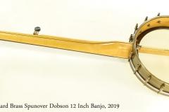 Rickard Brass Spunover Dobson 12 Inch Banjo, 2019 Full Rear View