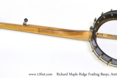 Rickard Maple Ridge Frailing Banjo, Antiqued Brass Hardware, 2015  Full Rear View