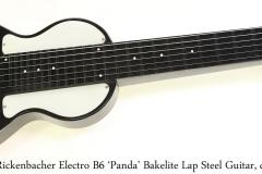 Rickenbacher Electro B6 'Panda' Bakelite Lap Steel Guitar, c. 1945 Full Front View