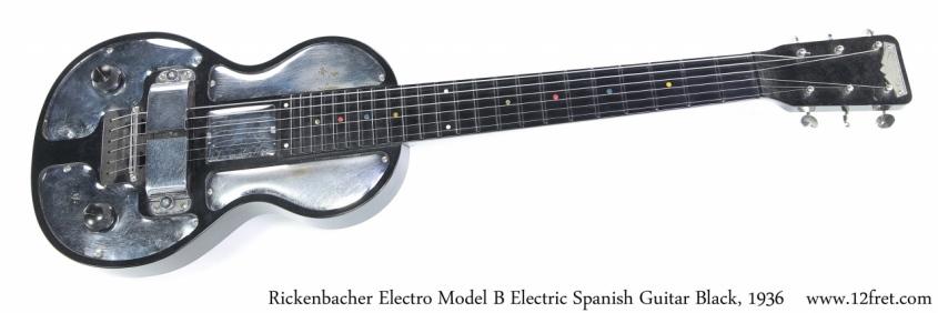 Rickenbacher Electro Model B Electric Spanish Guitar Black, 1936 Full Front View