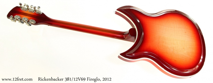 Rickenbacker 381/12V69 Fireglo, 2012 Full Rear View