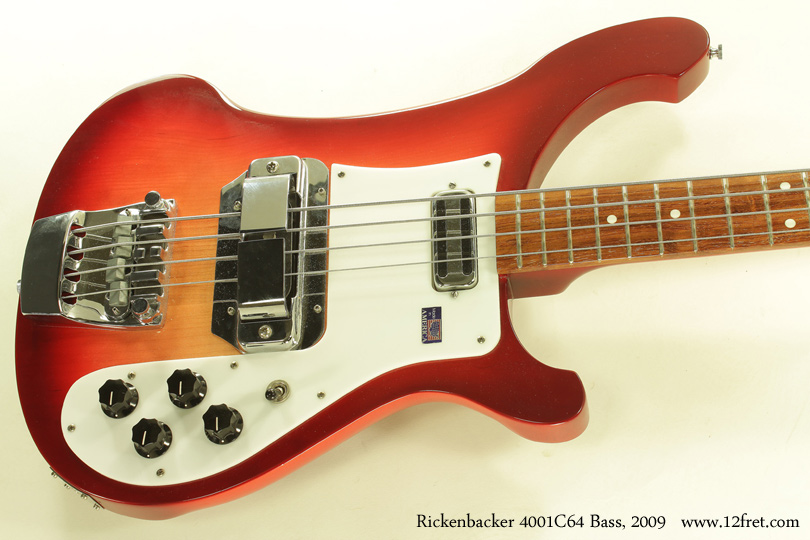 2009 rickenbacker 4001 c64 bass rickenbacker 4001 c64 fireglo bass 2009 top