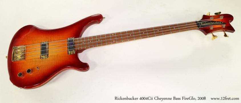 Rickenbacker 4004Cii Cheyenne Bass FireGlo, 2008  Full Front View